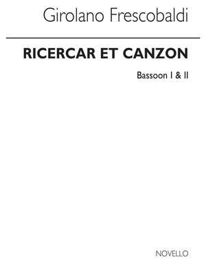 Girolamo Frescobaldi: Ricercar Et Canzon - Bassoon 1 And 2