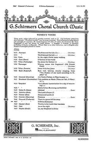 Charles Gounod: O Divine Redeemer