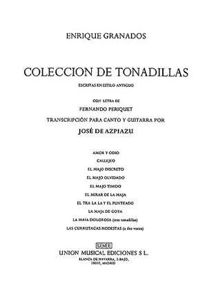 Coleccion De Tonadillas (Voice/Guitar)