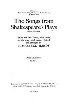 T. Hardy: The Songs From Shakespeares Plays