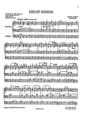 Joseph Jongen: Menuet-Scherzo