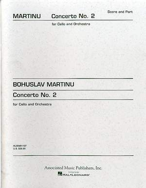 Bohuslav Martinu: Concerto No.2 For Cello And Orchestra