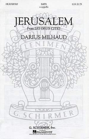 Darius Milhaud: Jerusalem