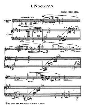 Julian Menéndez: Ocho Estudios For Clarinet