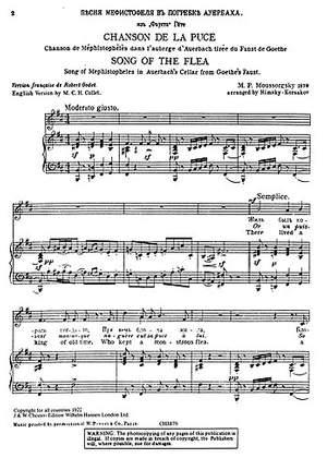 Modest Mussorgsky: Song Of The Flea