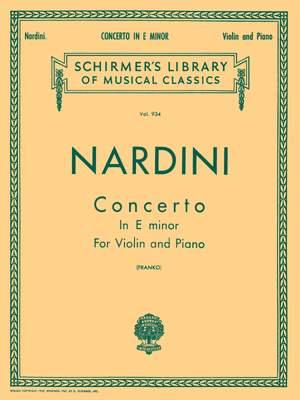 Pietro Nardini: Concerto in E minor