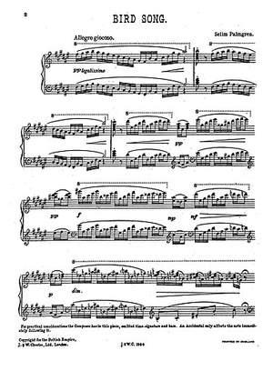 Selim Palmgren: Bird Song for Piano