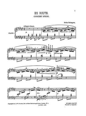 Selim Palmgren: En Route - A Concert Study for Piano