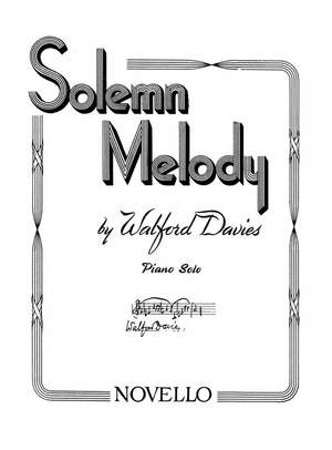 H. Walford Davies: Solemn Melody (Piano)