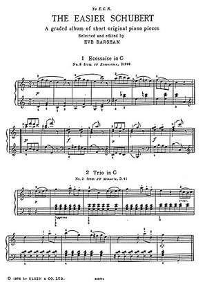 Franz Schubert: Easier Schubert for Piano