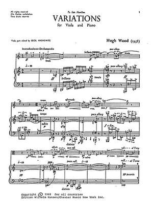 Hugh Wood: Variations Op. 1