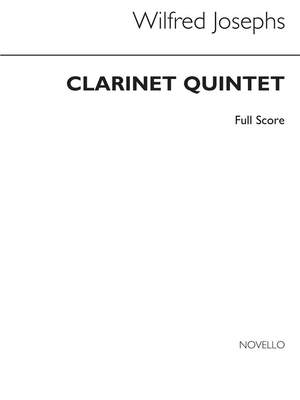 Wilfred Josephs: Clarinet: Quintet (Score)