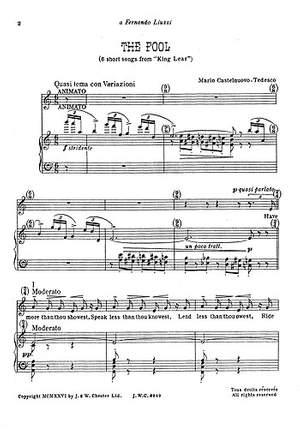 Mario Castelnuovo-Tedesco: Shakespeare Songs Book 10