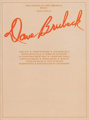 Dave Brubeck: The Genius of Dave Brubeck, Book 1