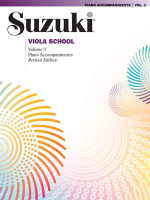 Suzuki Viola School Piano Acc., Volume 3 (Revised)