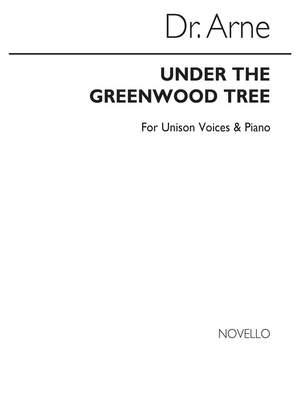 Arne: Arne Under The Greenwood Tree Voice/Piano