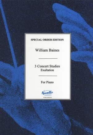 William Baines: Exaltation (Three Concert Studies)
