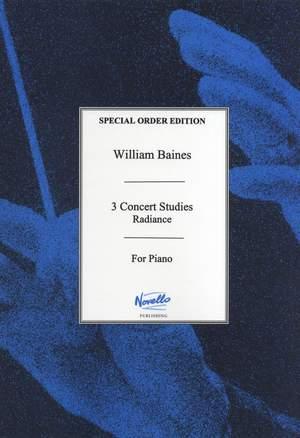 William Baines: Radiance (Three Concert Studies)
