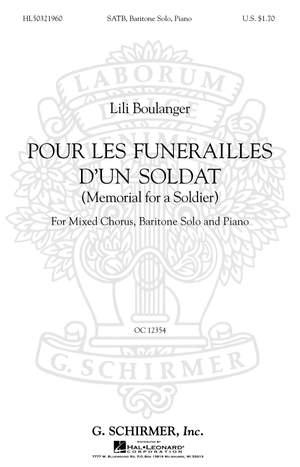 Lili Boulanger: Pour les Funerailles d'un Soldat