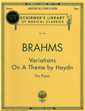 Johannes Brahms: Variations On A Theme Of Haydn For Piano