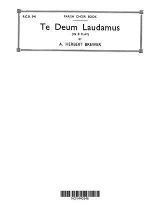 Herbert Brewer: Te Deum In B Flat