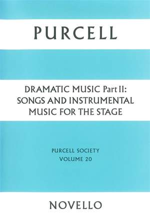 Henry Purcell: Purcell Society Volume 20