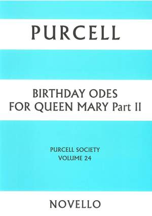 Henry Purcell: Purcell Society Volume 24