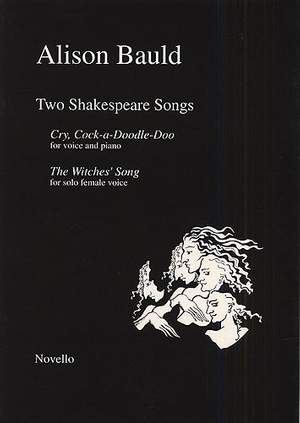 Alison Bauld: Bauld Alison Two Shakespeare Songs Vce/pf
