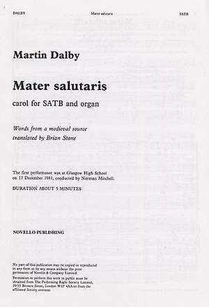 Martin Dalby: Mater Salutaris