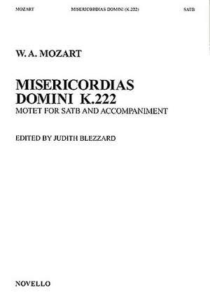 Wolfgang Amadeus Mozart: Misericordias Domini K.222