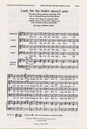 John Hilton_Richard Farrant: Lord For Thy Tender Mercy's Sake