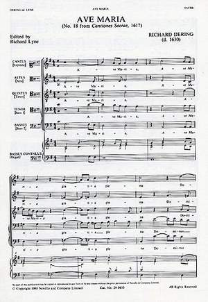 Richard Dering: Ave Maria
