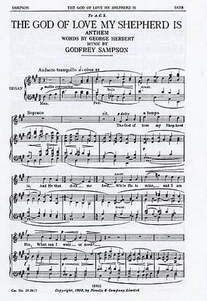 Godfrey Sampson: The God Of Love My Shepherd Is