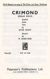 David Grant_W. Baird Ross: Crimond