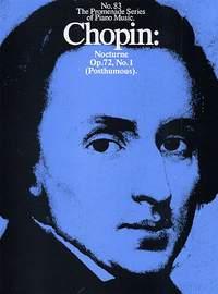 Frédéric Chopin: Nocturne In E Minor Op. 72 No. 1
