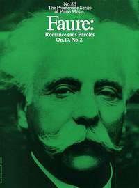 Gabriel Fauré: Romance Sans Paroles Op. 17, No. 2