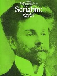 Alexander Scriabin: Album Leaf Op. 45, No. 1