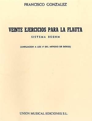 Francisco Gonzalez: Veinte Ejercicios Para La Flauta