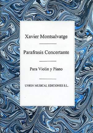 Xavier Montsalvatage: Parafrasis Concertante