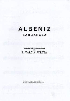 Isaac Albéniz: Barcarola