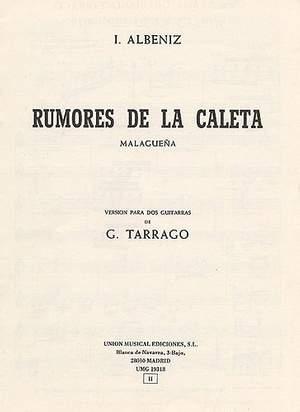 Isaac Albéniz: Albeniz Rumores De La Caleta Malaguena