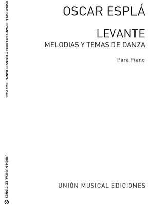 Oscar Espla: Levante Melodias Y Temas De Danza Piano