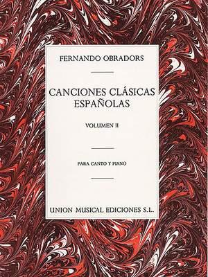 Canciones Clasicas Espanolas Volume 2