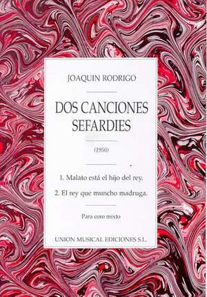 Joaquín Rodrigo: Joaquin Rodrigo: Dos Canciones Sefardies