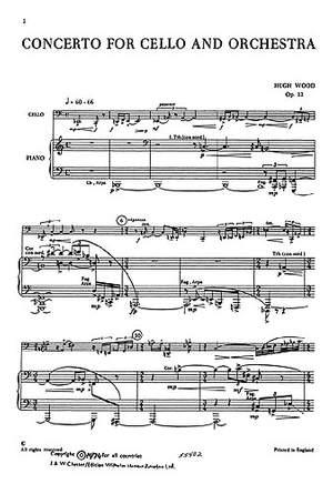 Hugh Wood: Cello Concerto Op.12 (Cello And Piano)