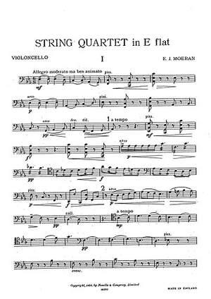 E.J Morean: String Quartet In E Flat (Parts)