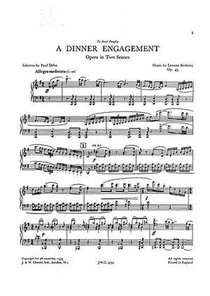 Lennox Berkeley: A Dinner Engagement Op.45