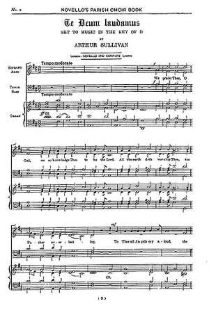 Arthur Seymour Sullivan: Te Deum Laudamus (SATB)