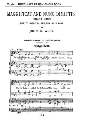 John E. West: Magnificat And Nunc Dimittis In E Flat (Unison)