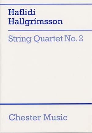 Haflidi Hallgrímsson: String Quartet No. 2